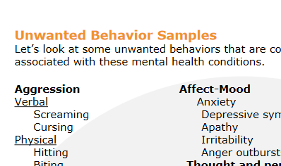 Behavioral Samples