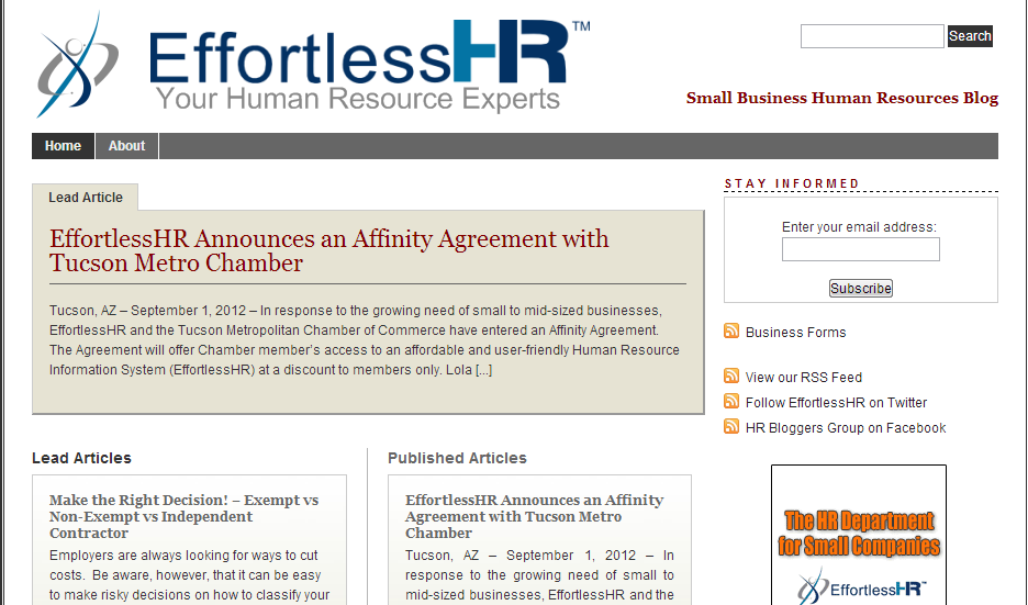 Old Effortless HR Blog Theme