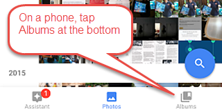 How to view albums using Google Photos