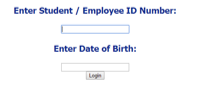 student or employee ID number and six-digit date of birth