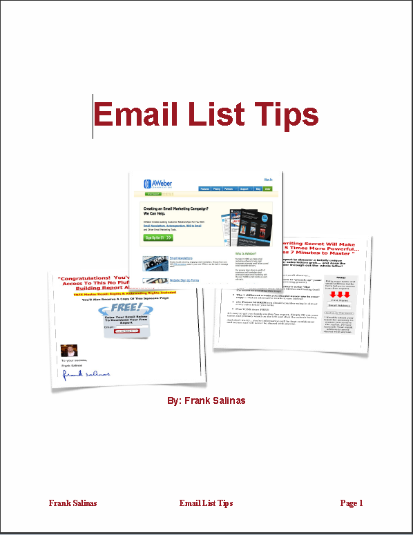 Email List Tips Report