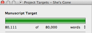 Writing Goal Met!