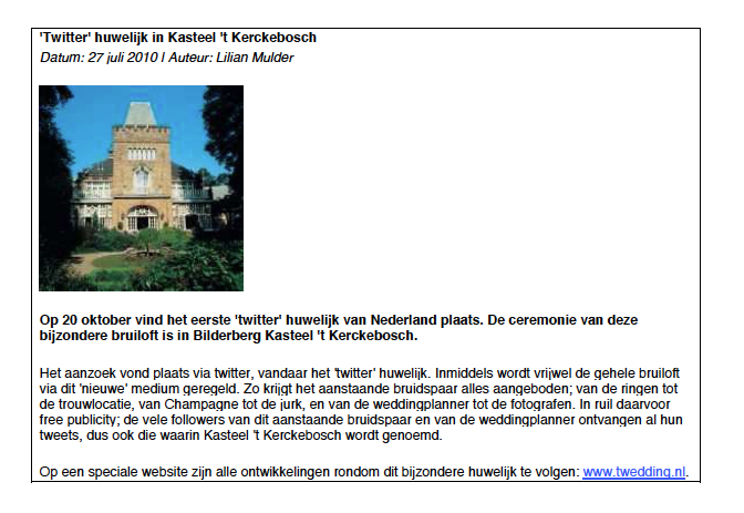 Kasteel Kerckebosch is de trouwlocatie voor Twedding