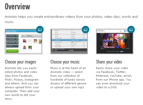 Animoto Overview