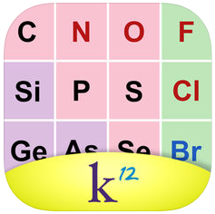 K12 Periodic Table of the Elements iOS App