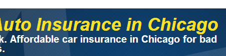 Photo of website offering auto insurance Chicago
