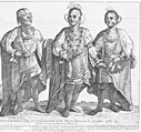 Cherokee Warriors While Visiting London in 1762