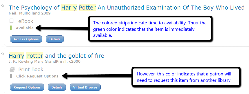 OneSearch Color Availability Indicator