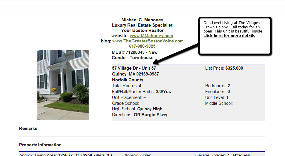 Quincy Mass Condos and Homes for Sale