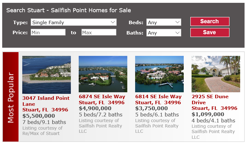 Sailfish Point Homes Stuart FL
