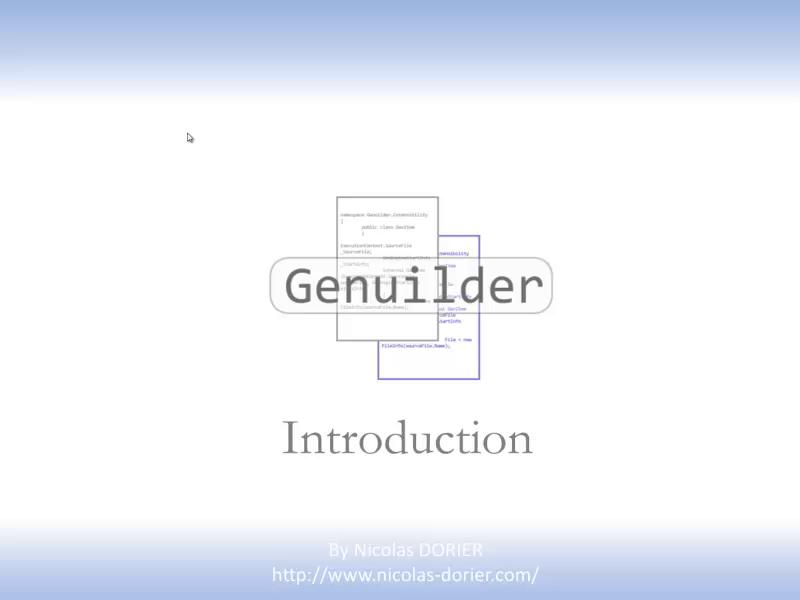 GenuilderIntroduction