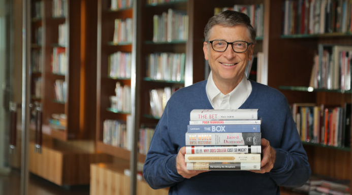 Bill Gates and books