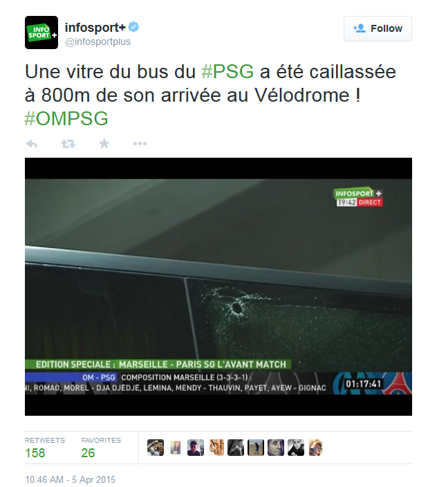 PSG bus with bullet hole