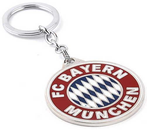 18 carat gold plated soccer keychains