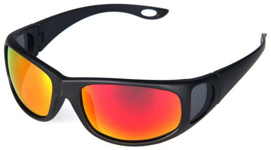 polarized anti-reflective sunglasses side view