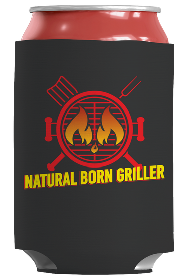 natural born griller koozie can wrap