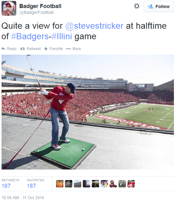 Stricker at Camp Randall