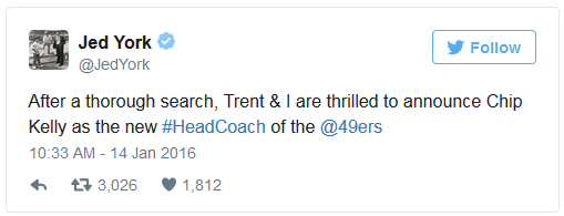 Jed York tweet
