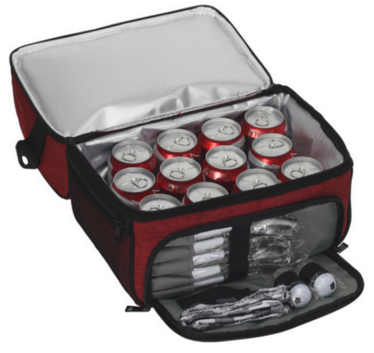 insulated multi-compartment tailgating tote bag