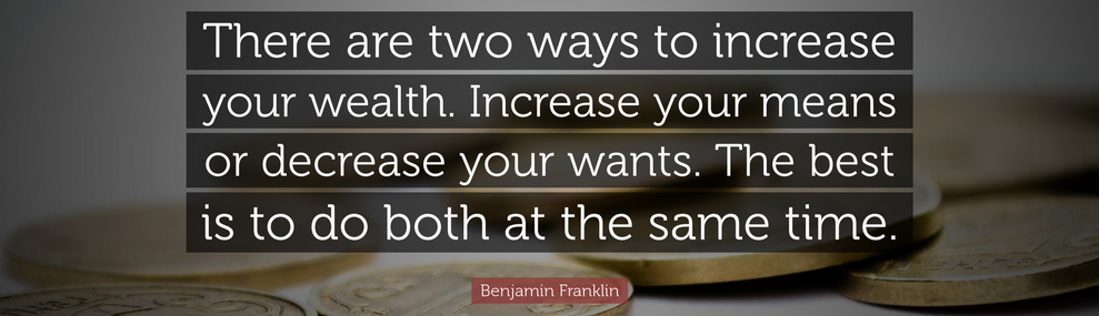 Benjamin Franklin quote about wealth