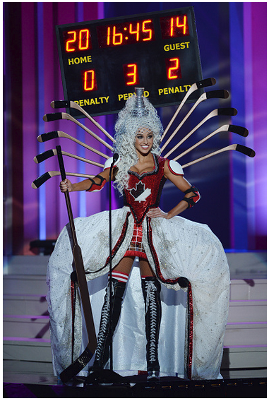 Miss Canada at Miss Universe pageant