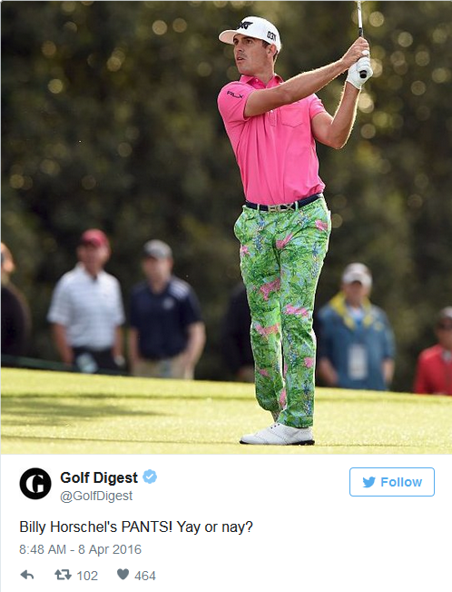 Billy Horschel pants