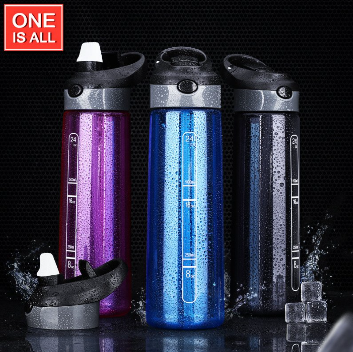 eco-friendly sports water bottle with straw