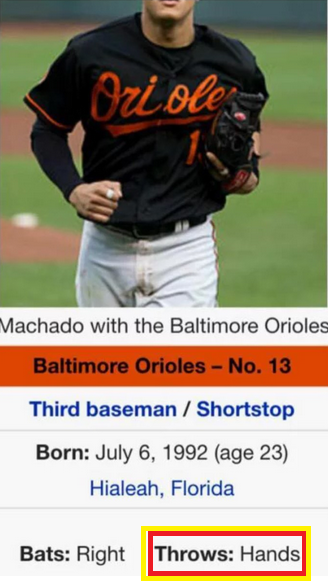Machado baseball card