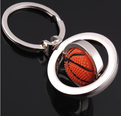 rotating basketball key ring