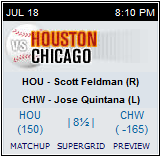 Astros at White Sox Bovada
