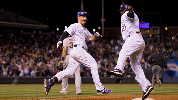 Rockies walkoff against Giants
