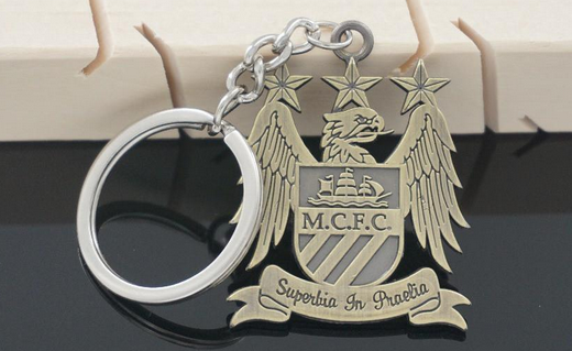 Manchester City metal keychain