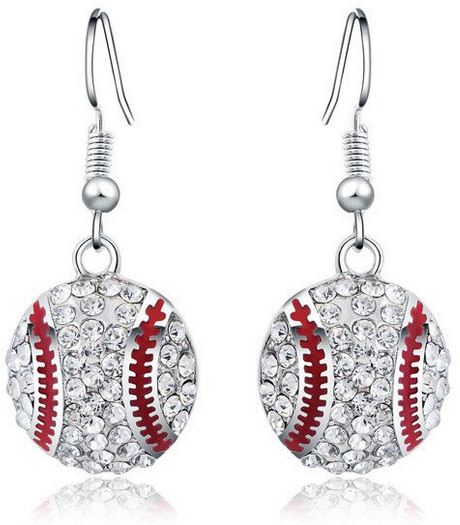 dangling baseball earrings