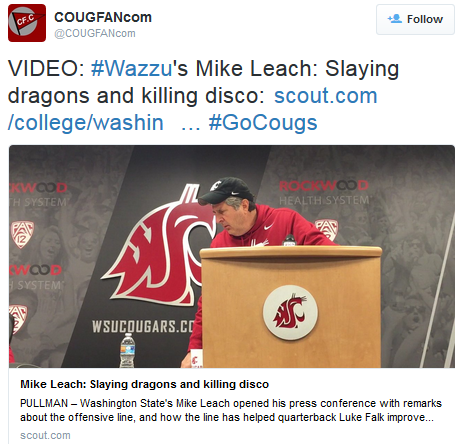 Mike Leach tweet