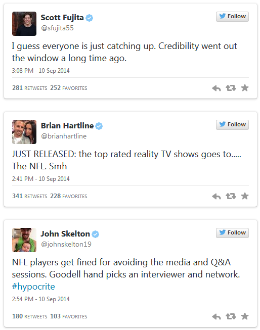 NFL players on Goodell