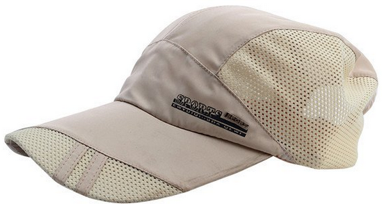 adjustable low-crown long-bill mesh baseball cap