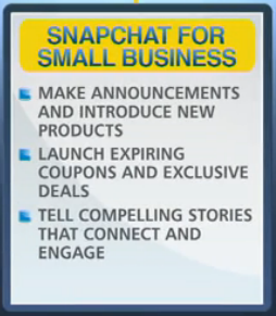 Snapchat for small business