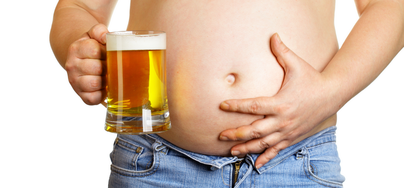 alcohol belly fat