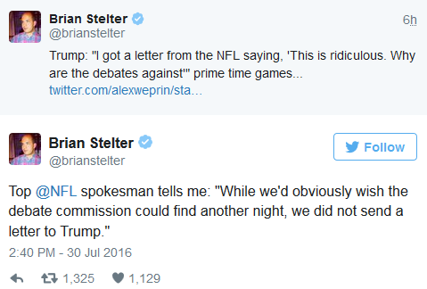 NFL letter to Trump tweets
