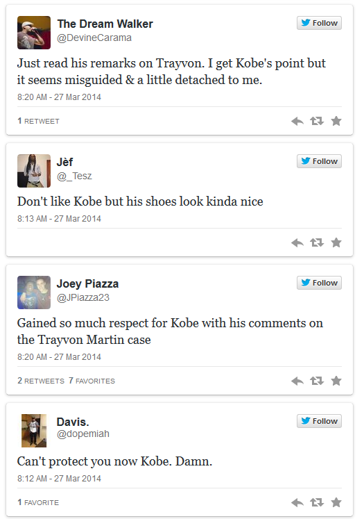 Reaction to Kobe 2