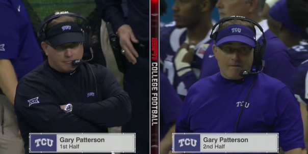 Gary Patterson wardrobe change