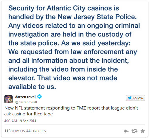 NFL claims it didn't see Rice elevator video