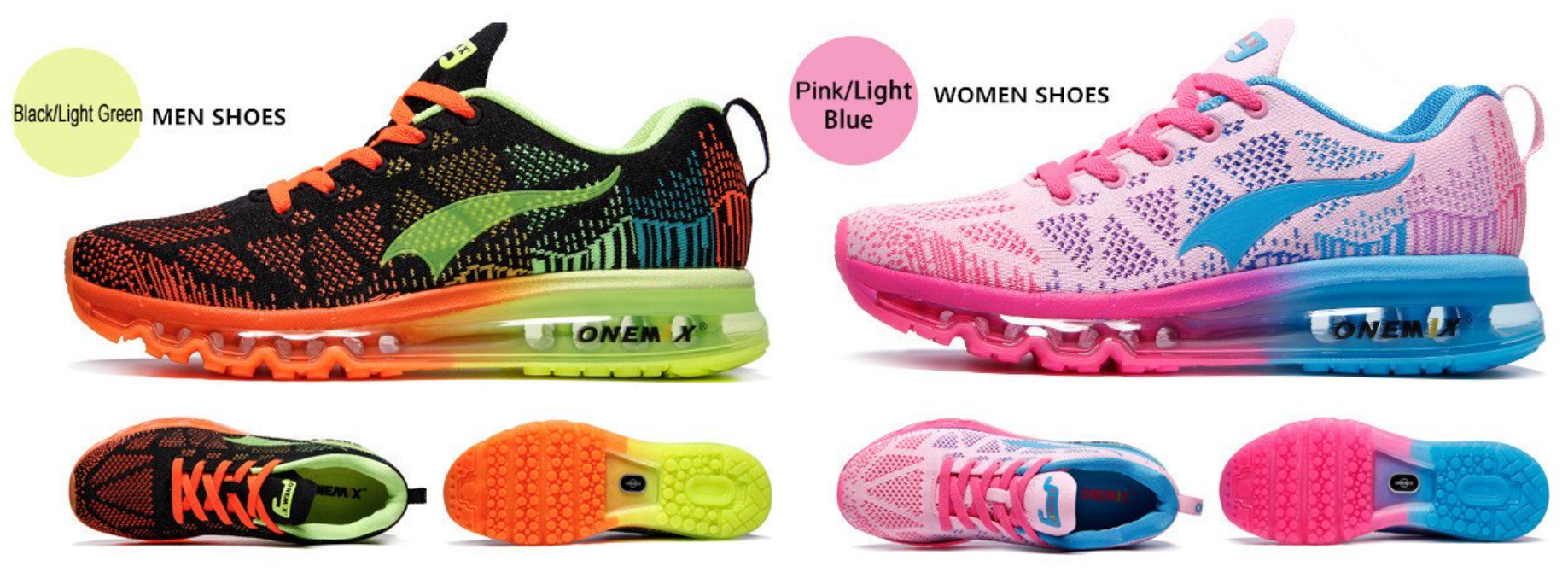 men's and women's running shoes
