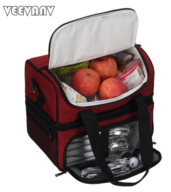 insulated, multi-compartment tailgating tote bag