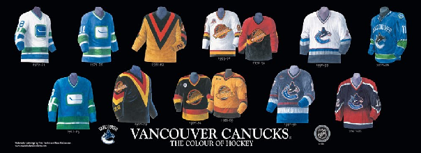Canucks jerseys