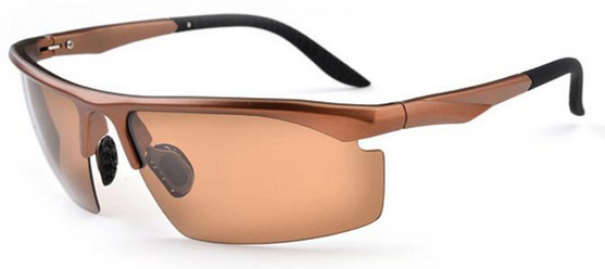 bronze coffee-color polarized UV400 sunglasses