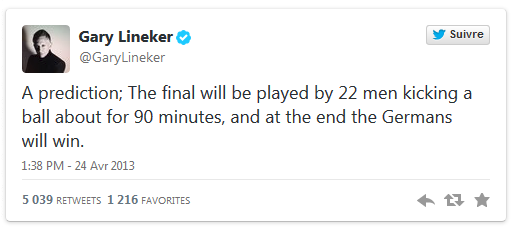 Lineker quote that Germany always wins