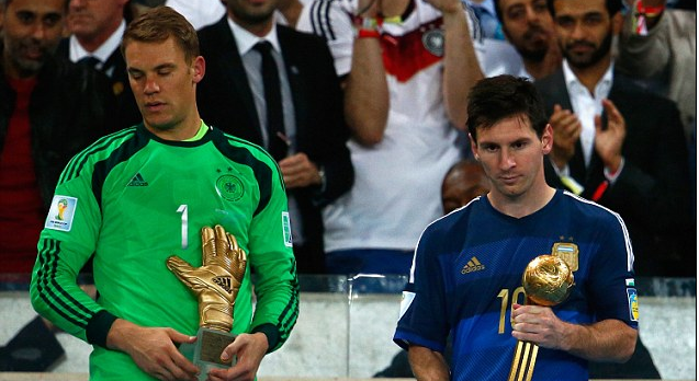 Messi and Neuer awards