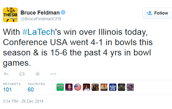 C-USA 4-1 Feldman tweet