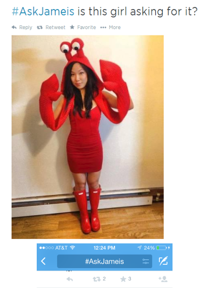 Girl in Crab Costume